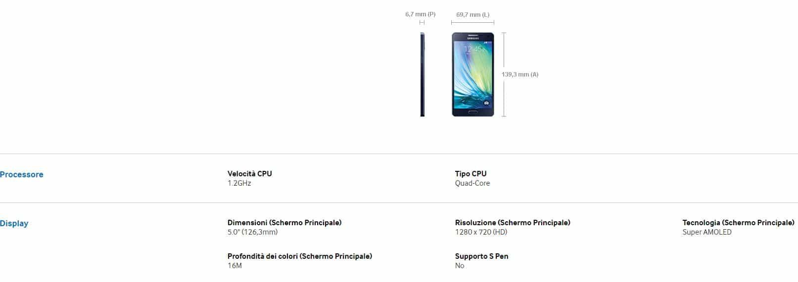 Promozione Samsung A5 Agente Tim