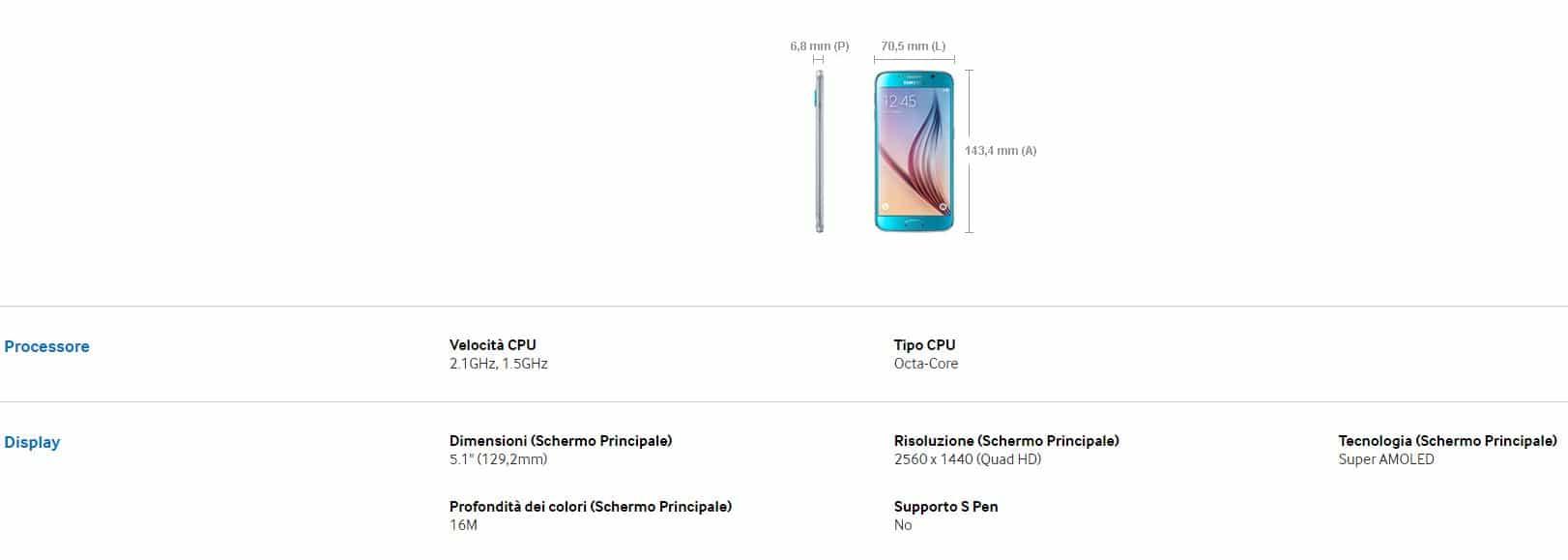 Promozione Samsung S6 Agente Tim