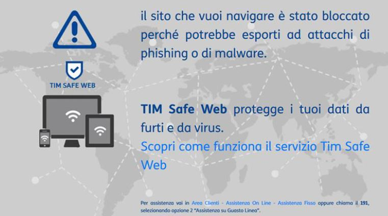 Tim Safe Web Pagina Protezione